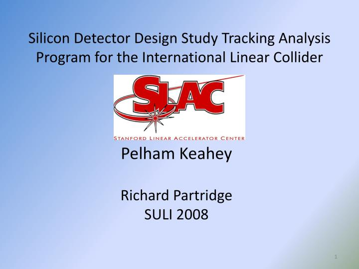 Silicon detector design study tracking analysis program for the international linear collider