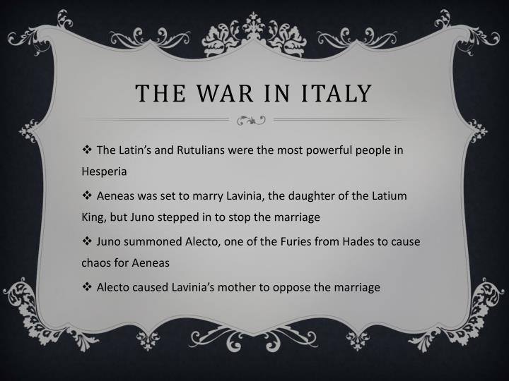 The War in Italy