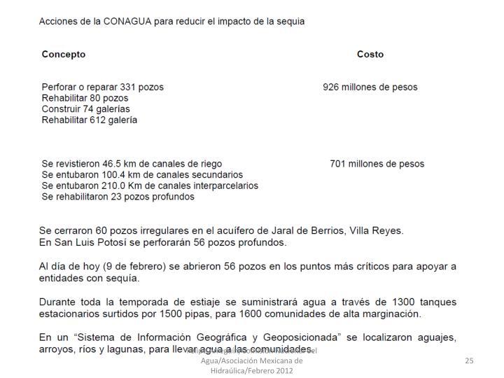 Felipe Arregun/Comisin Nacional del Agua/Asociacin Mexicana de Hidralica/Febrero 2012