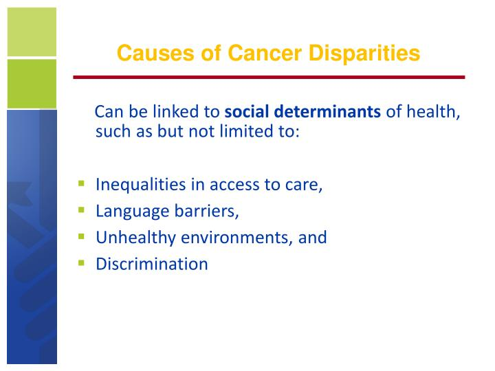 Causes of Cancer Disparities