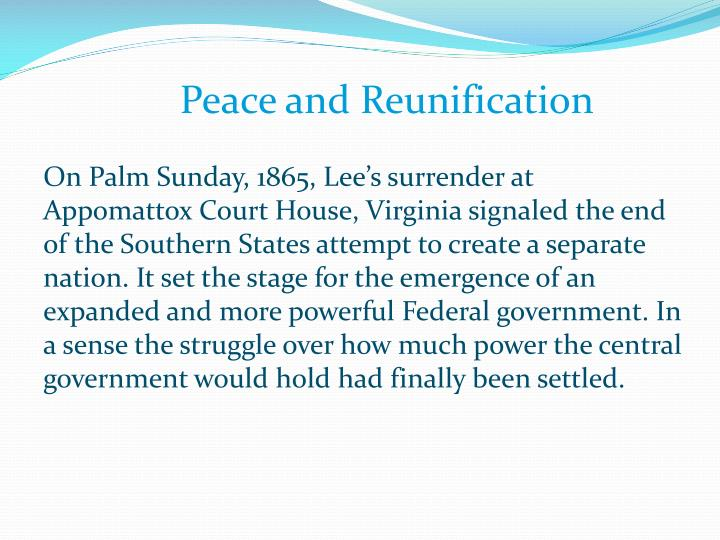 Peace and Reunification