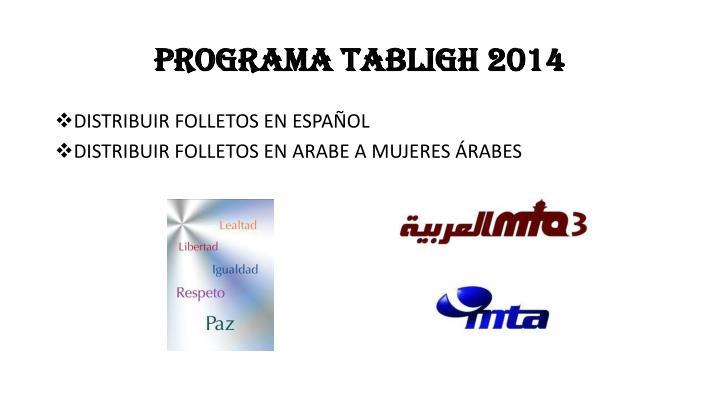PROGRAMA TABLIGH 2014