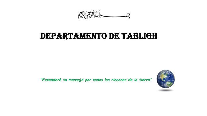 DEPARTAMENTO DE TABLIGH