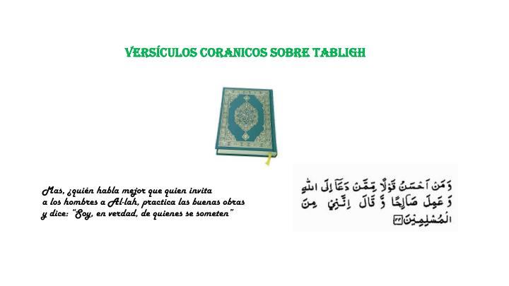 versículos CORANICOS SOBRE TABLIGH