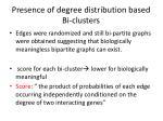 presence of degree distribution based bi clusters