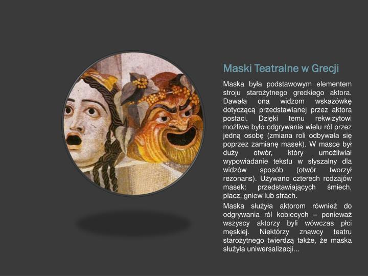 Maski Teatralne w Grecji