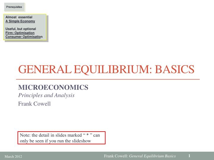 General equilibrium basics