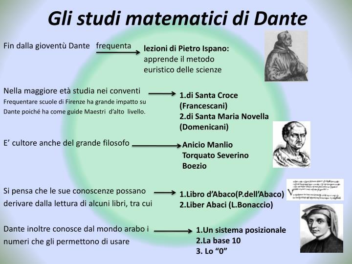 Gli studi matematici di Dante