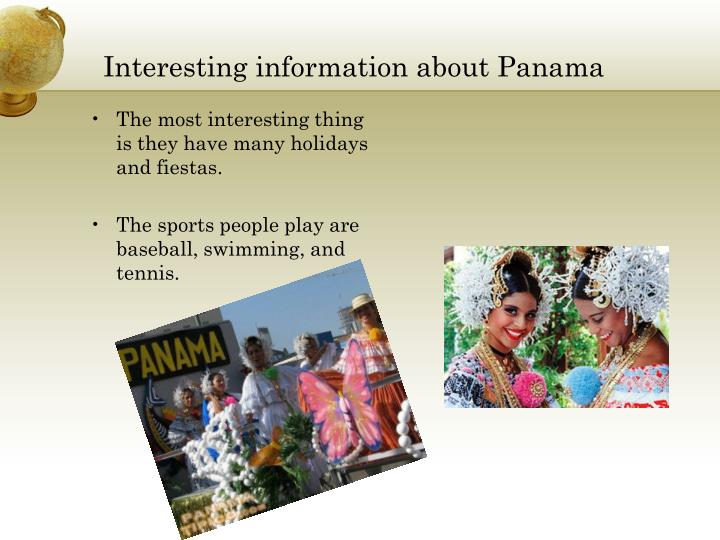 Interesting information about Panama