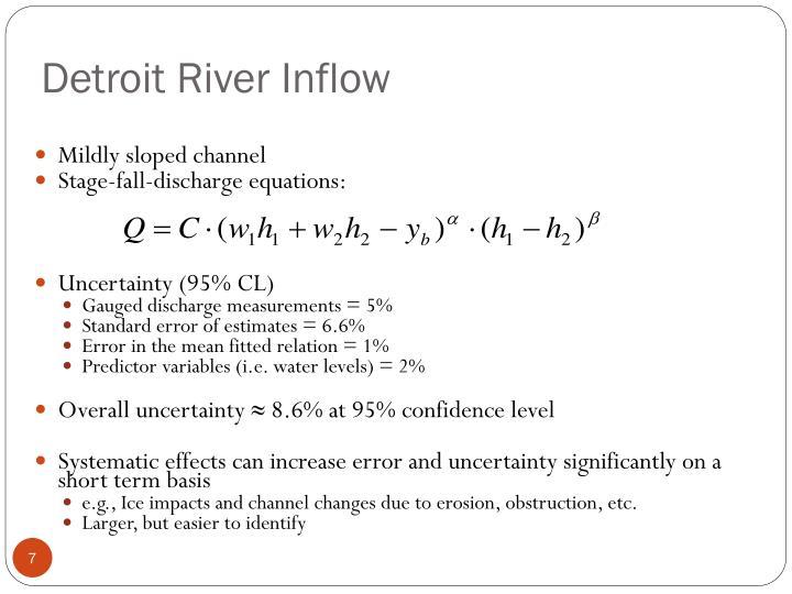 Detroit River Inflow