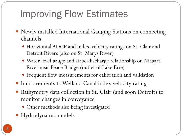 Improving Flow Estimates