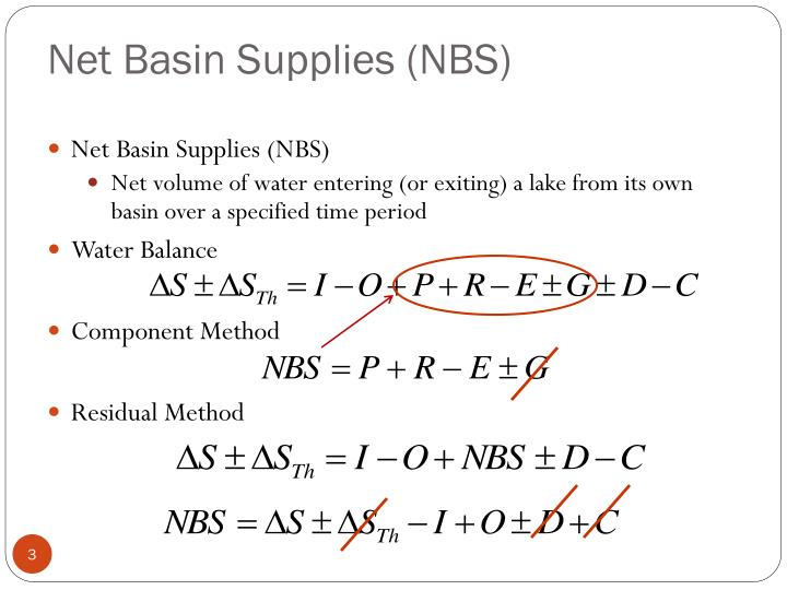 Net Basin Supplies (NBS)