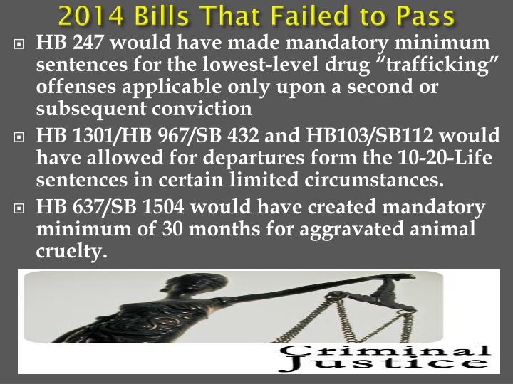 2014 Bills That Failed to Pass