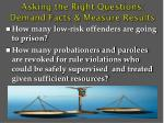 asking the right questions demand facts measure results1