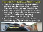 expand post release supervision