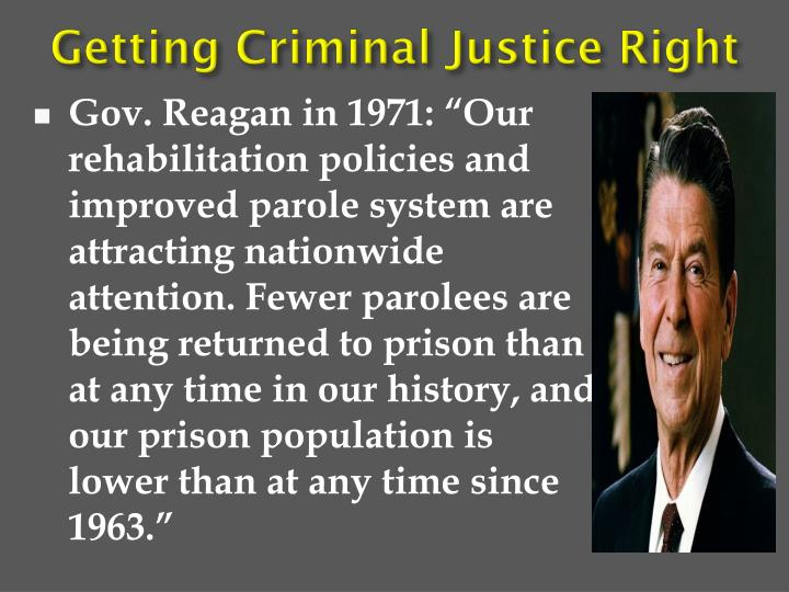 Getting Criminal Justice Right
