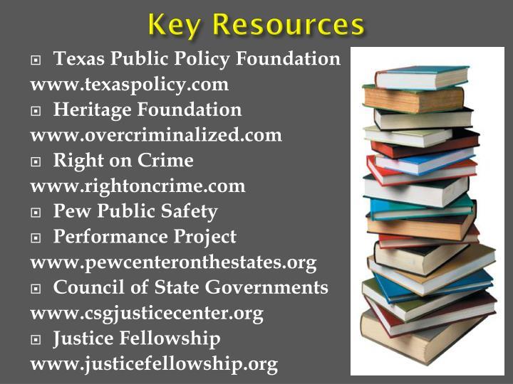 Key Resources