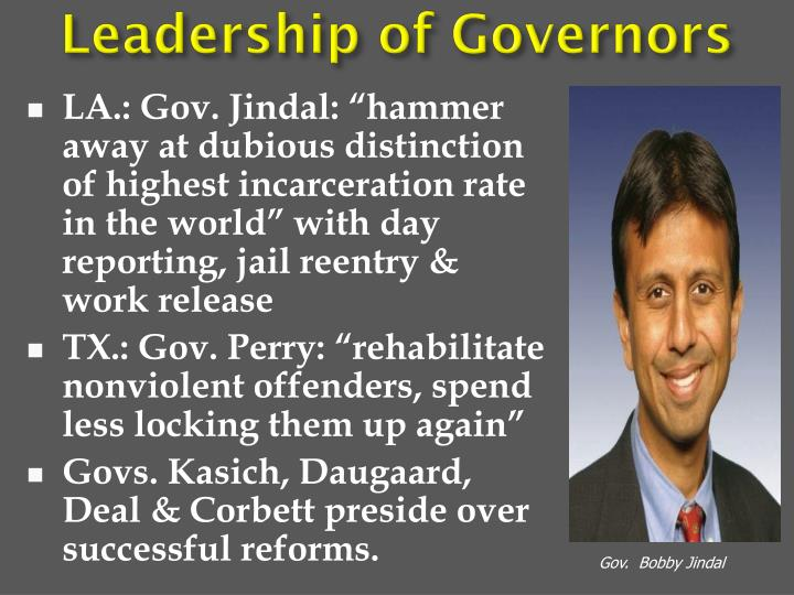 Leadership of Governors