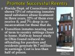 promote successful reentry