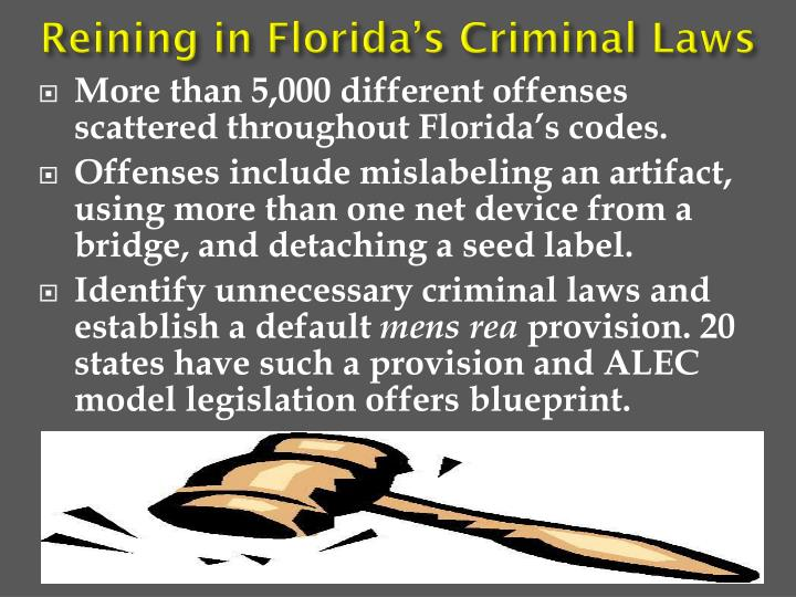 Reining in Florida's Criminal Laws