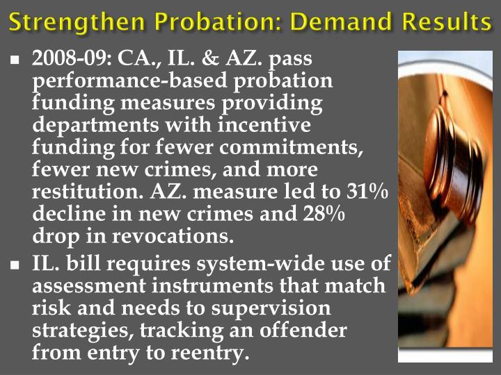 Strengthen Probation: Demand Results