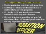 strengthening supervision