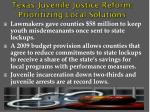 texas juvenile justice reform prioritizing local solutions