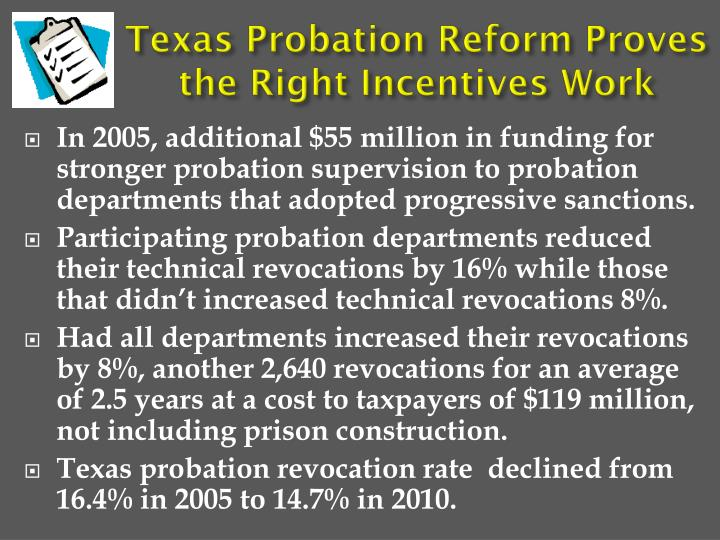 Texas Probation Reform Proves