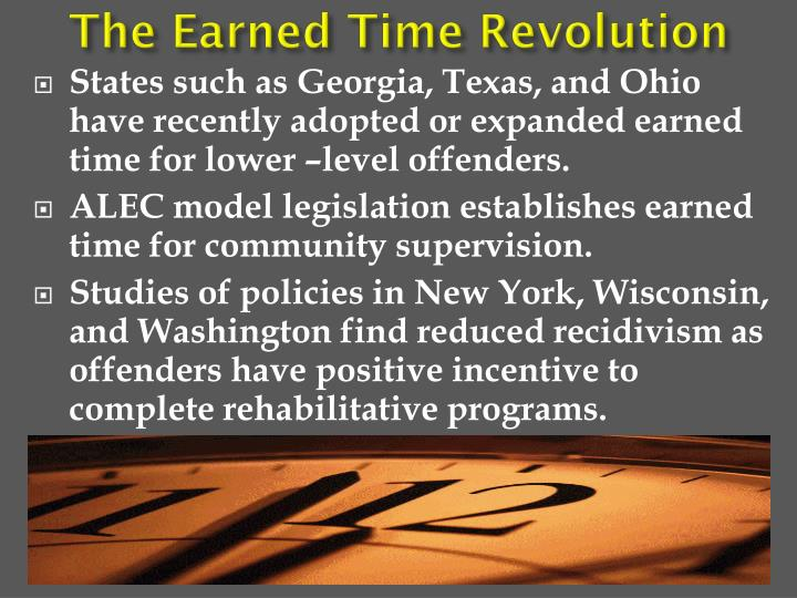 The Earned Time Revolution