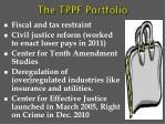 the tppf portfolio