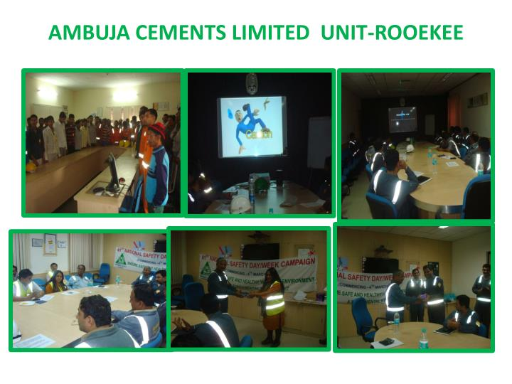 Ambuja Cements Limited : Ppt national safety day celebration powerpoint