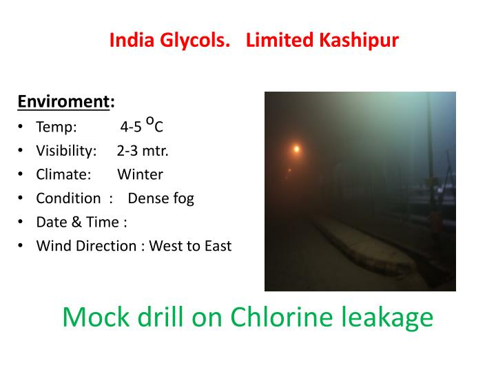 Mock drill on Chlorine leakage