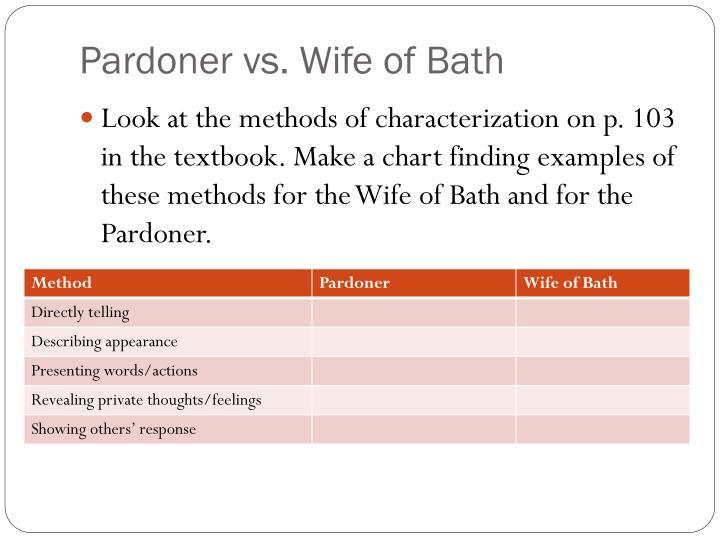 Pardoner vs. Wife of Bath