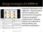 design strategies of cammina1