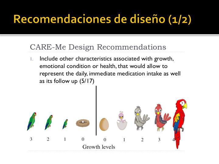 Recomendaciones de diseño (1/2)