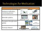 technologies for medication