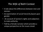 the wife of bath context