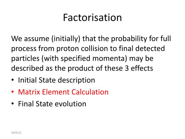 Factorisation