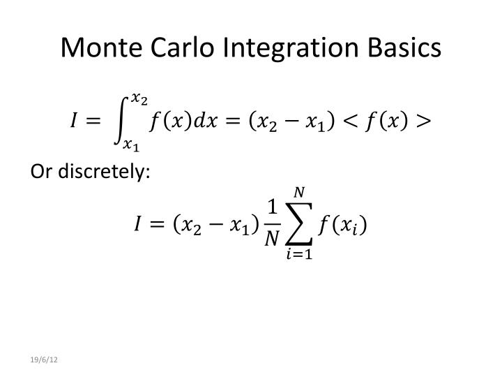 Monte Carlo Integration Basics