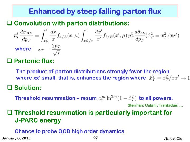 Enhanced by steep falling parton flux