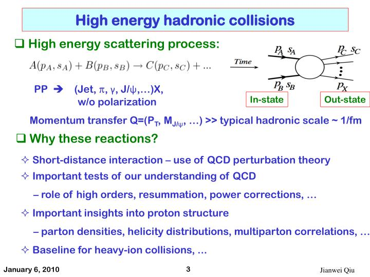 High energy hadronic collisions