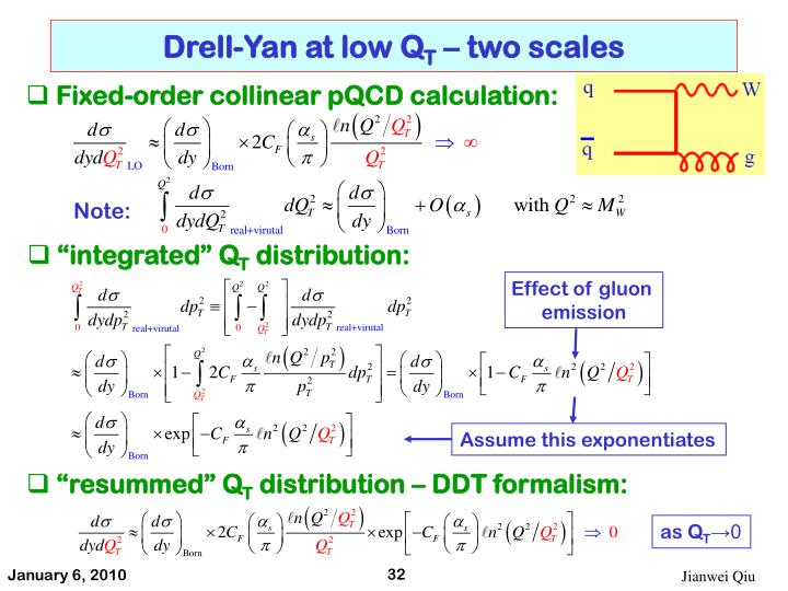 Drell-Yan at low Q