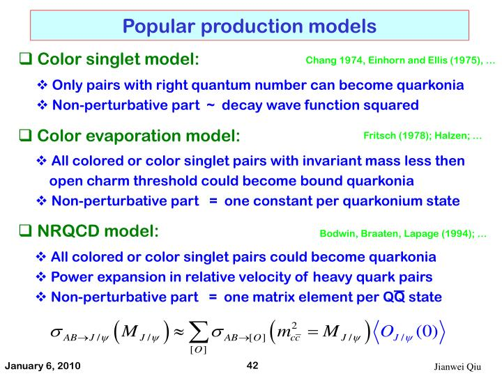 Popular production models