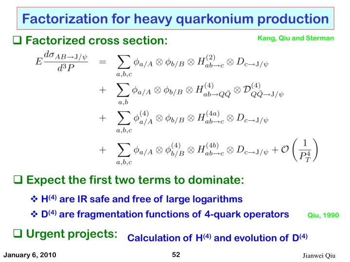 Factorization for heavy quarkonium production