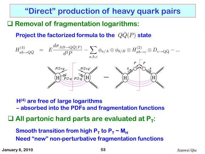 """Direct"" production of heavy quark pairs"