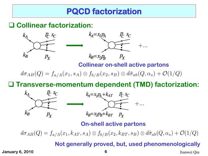 PQCD factorization