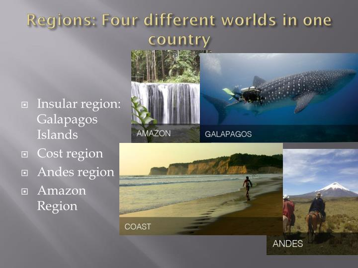 Regions: Four different worlds in one country