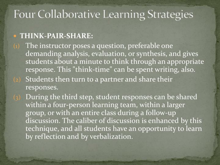 Four Collaborative Learning Strategies