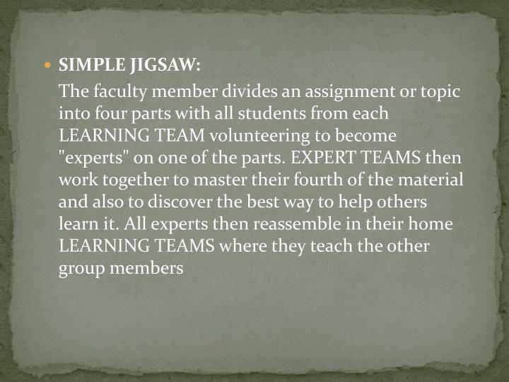 SIMPLE JIGSAW: