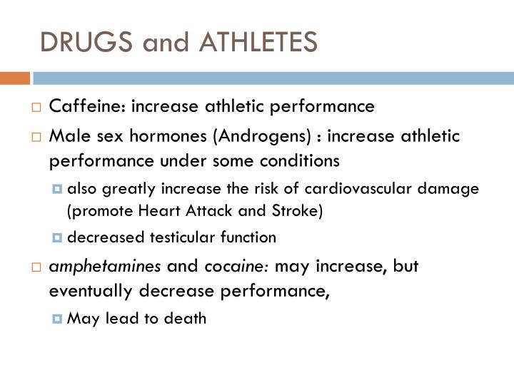 DRUGS and ATHLETES